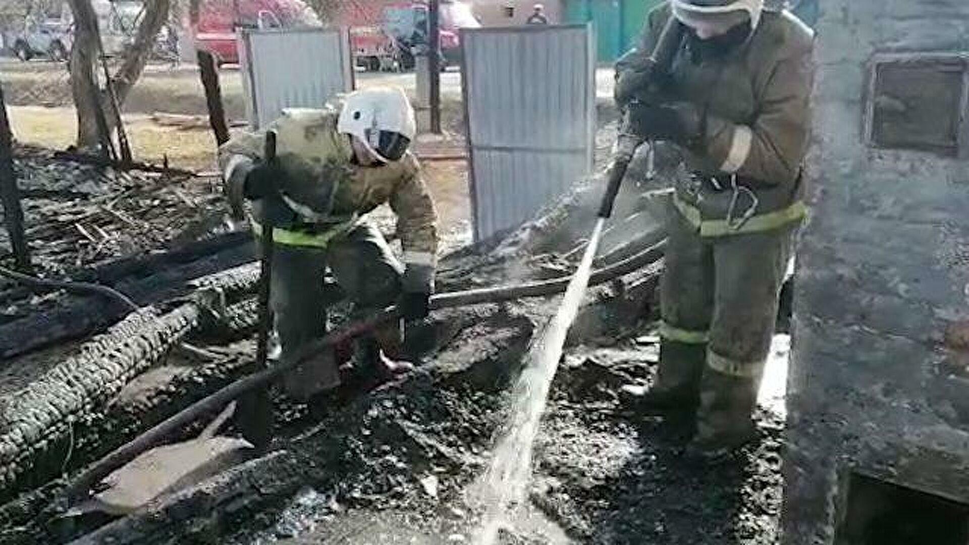 Пожар в нежилом здании в городском округе Серпухов