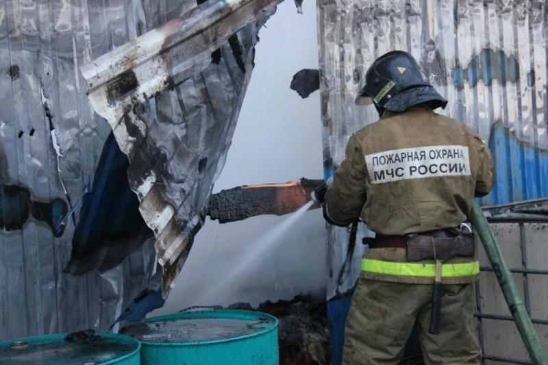 Пожар в хозяйственной постройке в городском округе Павловский-Посад