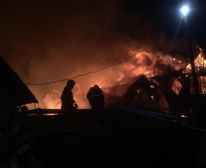 Пожар в жилом доме в городском округе Ступино