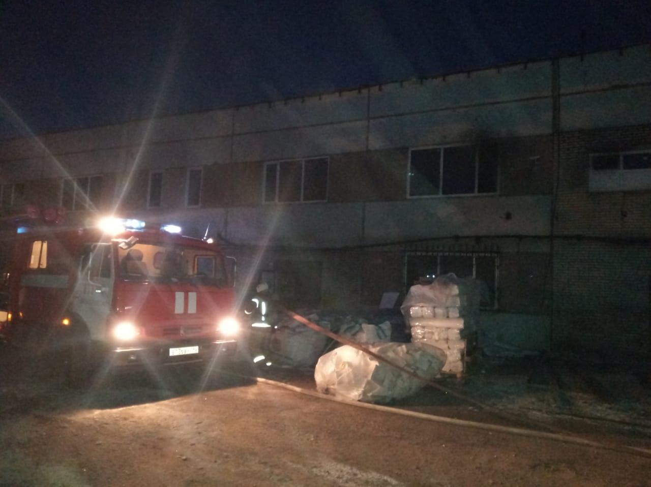Пожар в нежилом здании в городском округе Электросталь