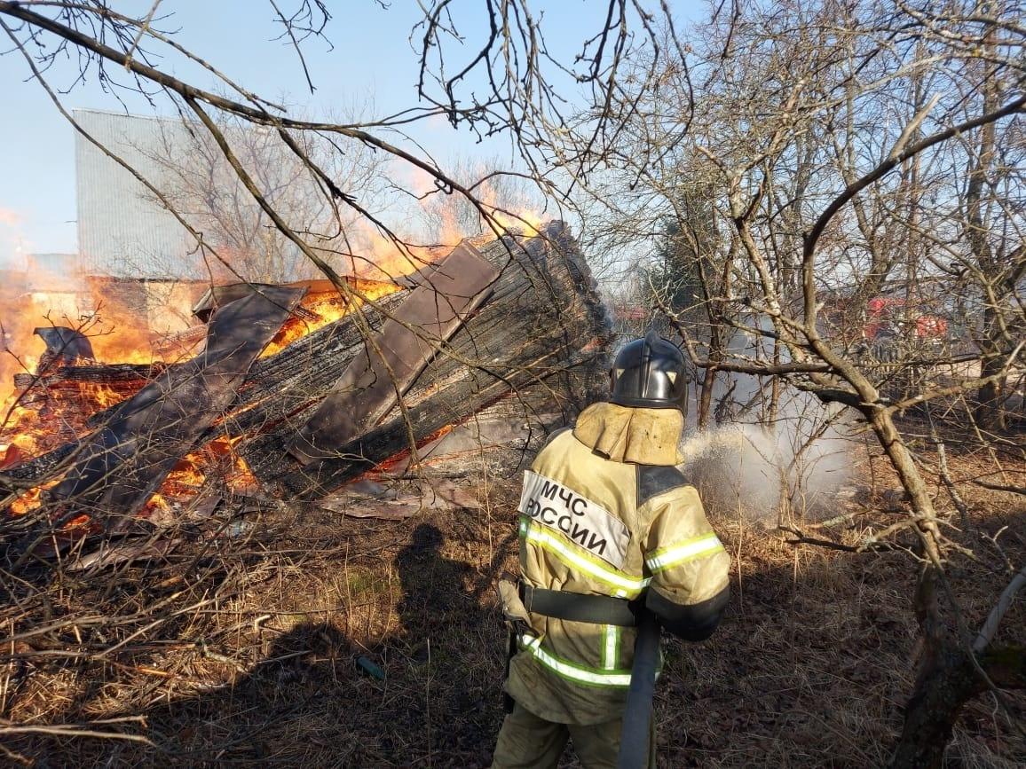 Пожар в нежилом здании в городском округе Шатура