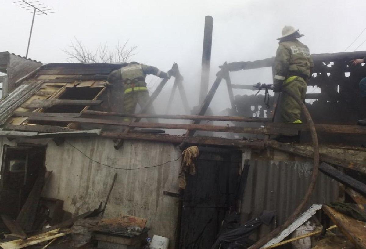 Пожар в хозяйственной постройке в городском округе Талдом