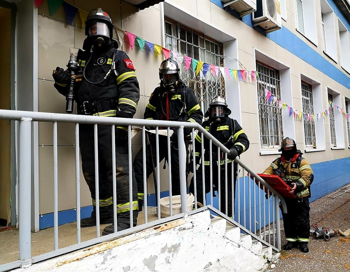 Тренировка по эвакуации и отработке действий при возникновении пожара проведена в Серпухове