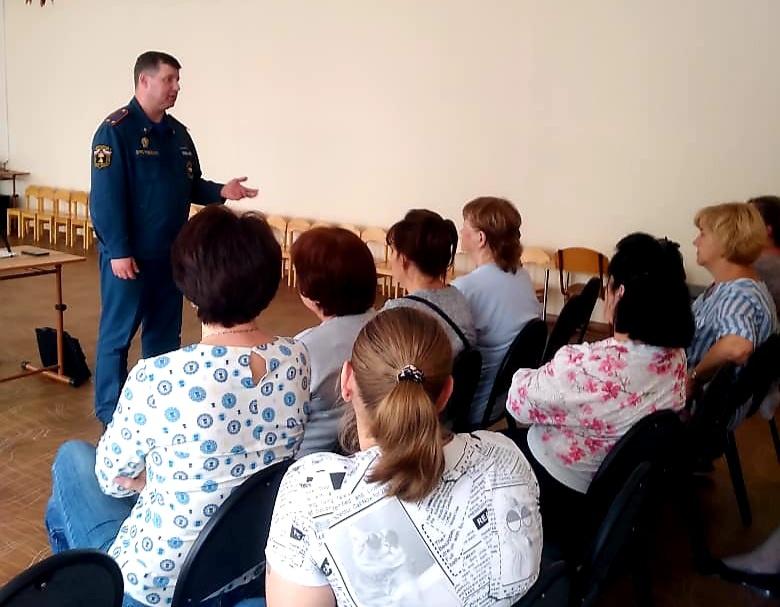 Противопожарный инструктаж проведён в детском саду Серпухова