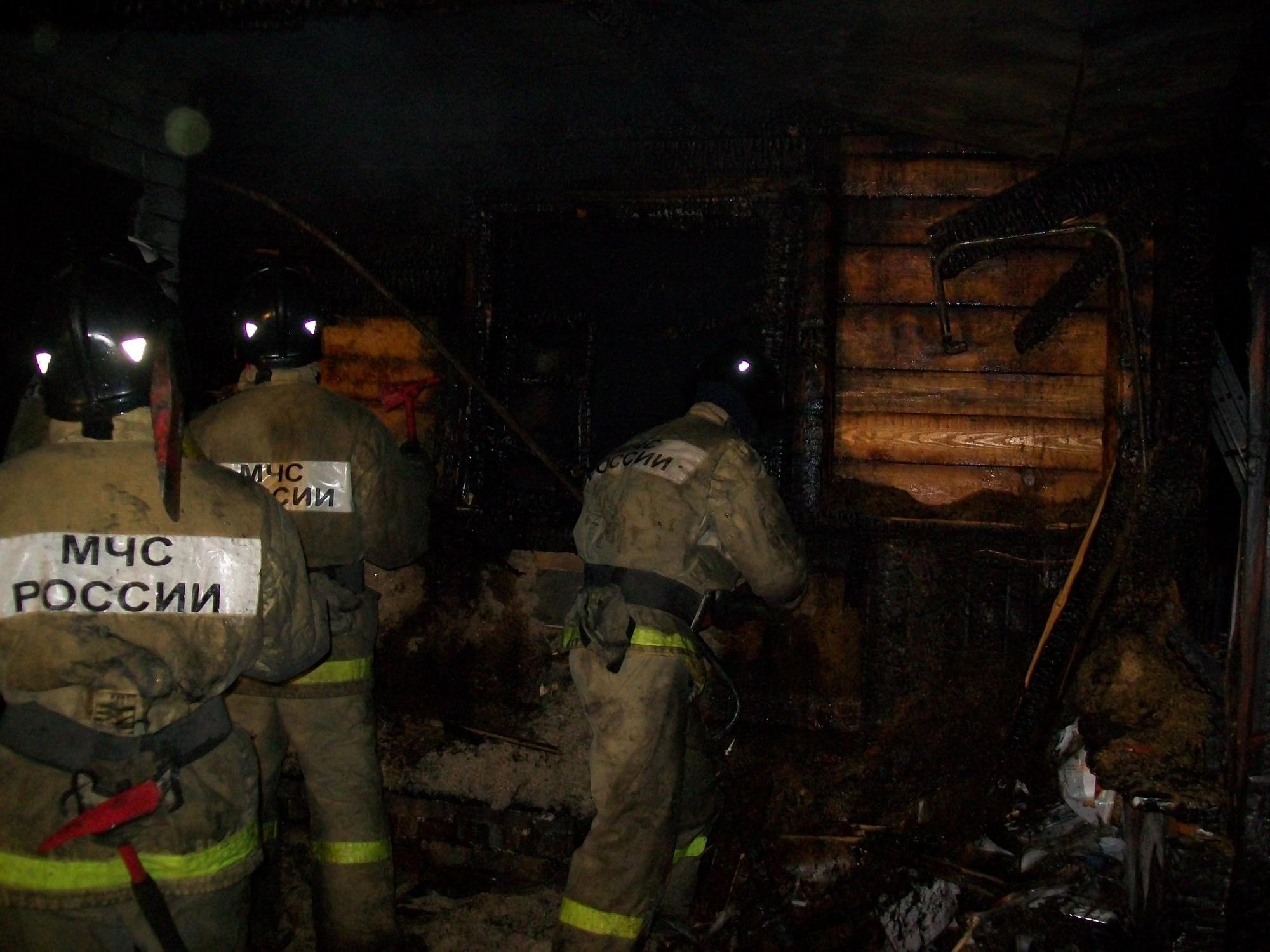 Пожар в хозяйственной постройке в городском округе Орехово-Зуево
