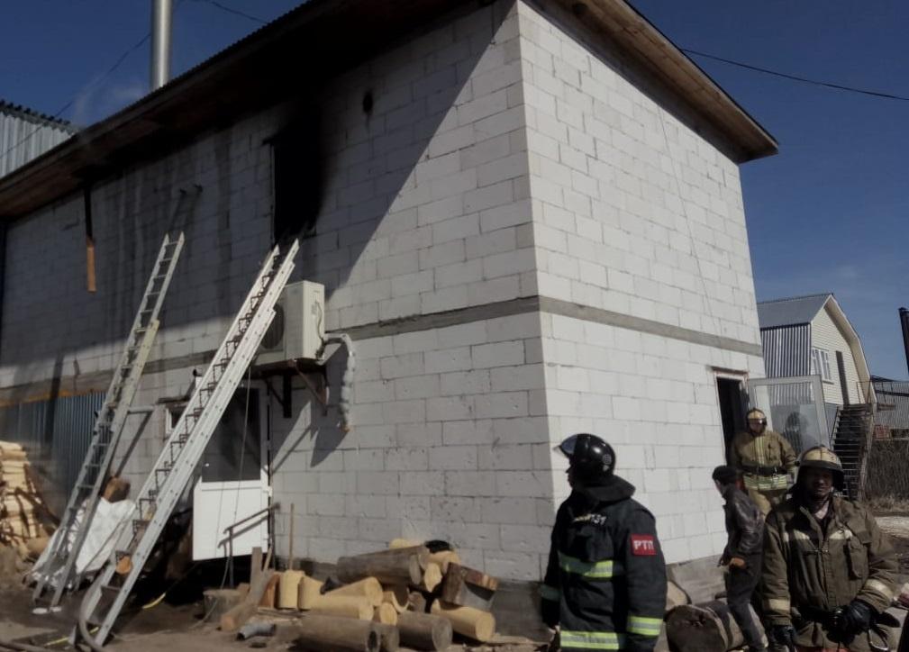 Пожар в нежилом здании в городском округе Щёлково