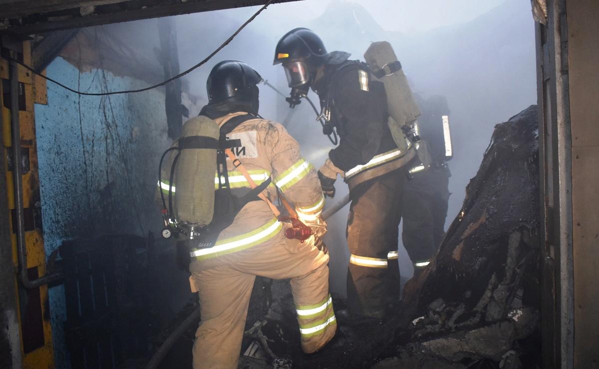Пожар в жилом доме в городском округе Волоколамск