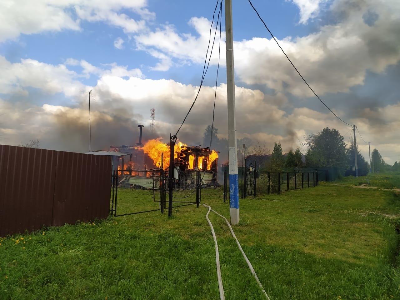 Пожар в садовом доме в городском округе Ступино