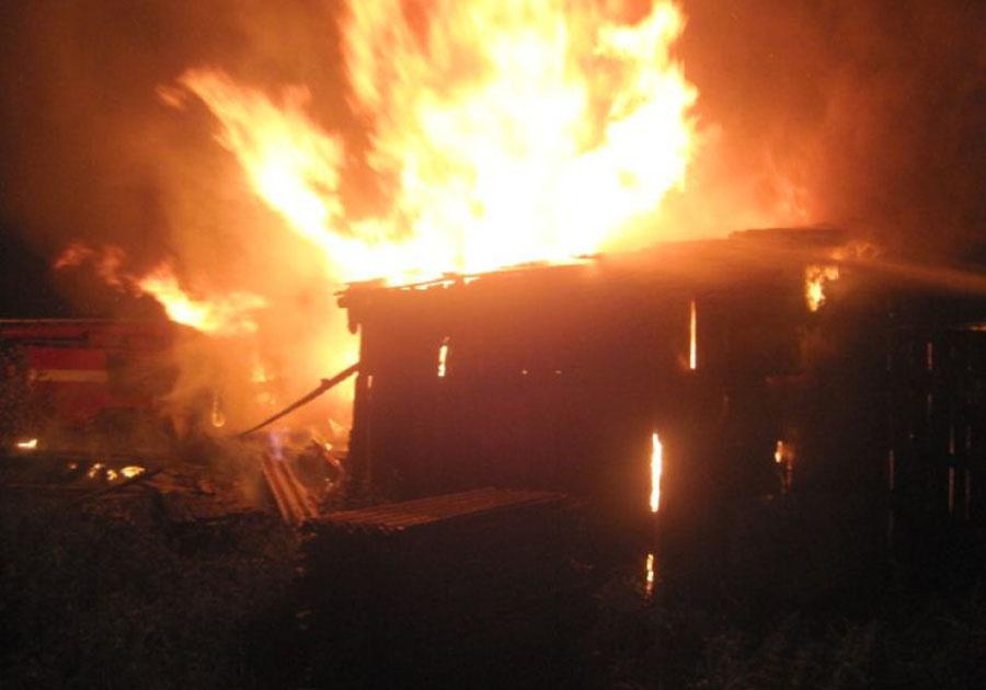 Пожар в хозяйственной постройке в городском округе Королев