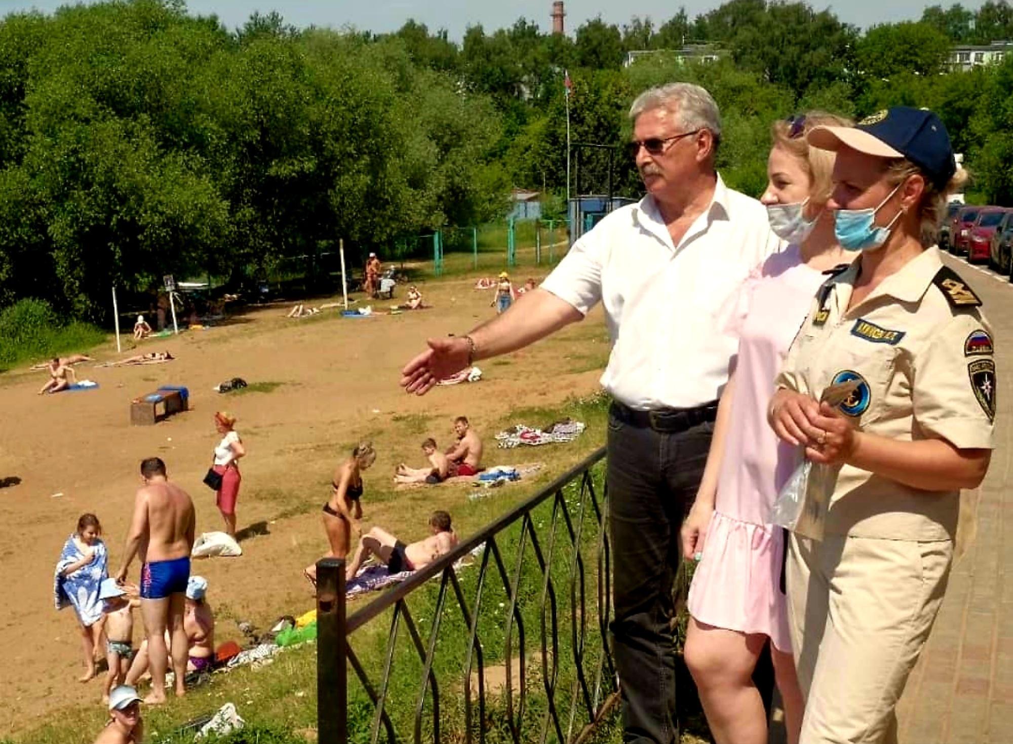 В Пушкино проведён рейд в местах массового отдыха населения у водоёмов