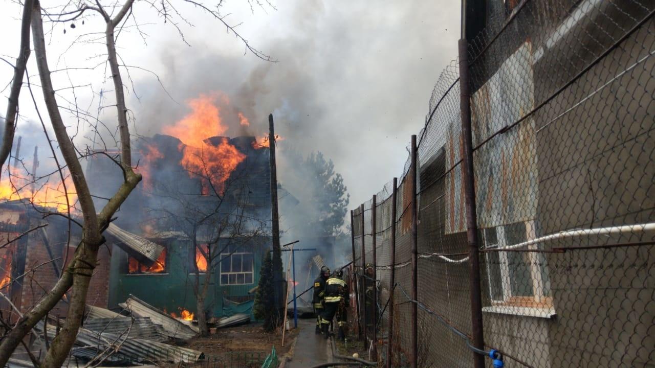 Пожар в жилом доме в городском округе Можайск