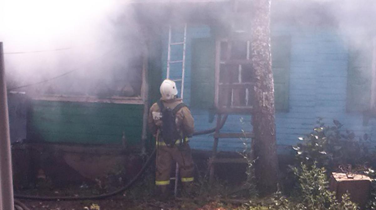 Пожар в жилом доме в городском округе Лобня
