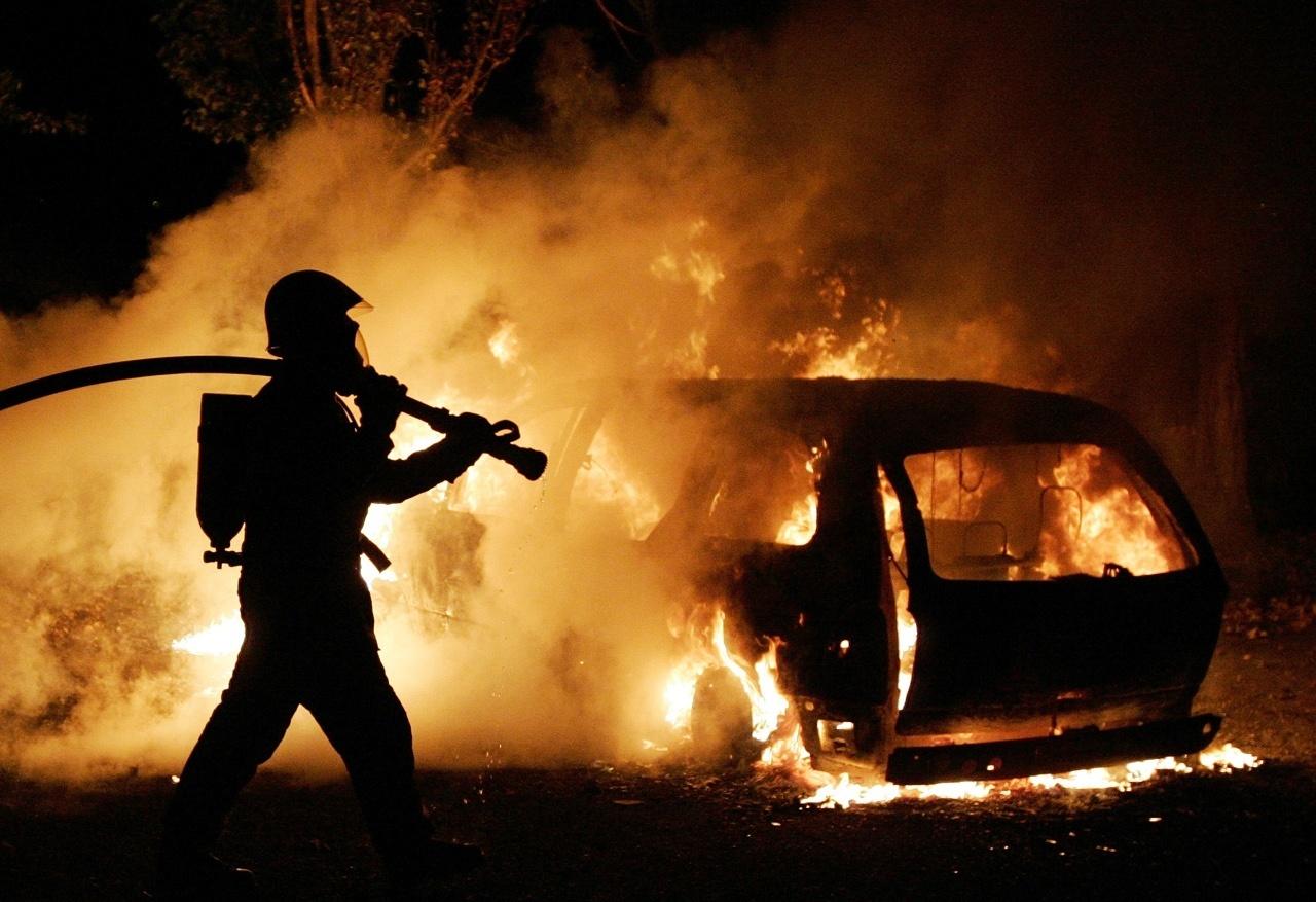 Возгорание транспортного средства в городском округе Красногорск