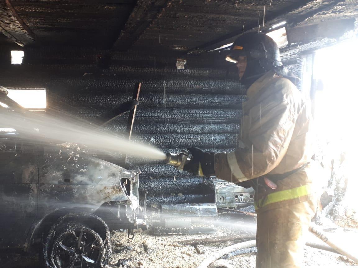Пожар в хозяйственной постройке в городском округе Красногорск