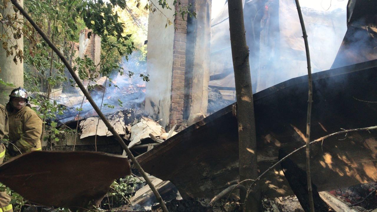 Пожар в нежилом здании в городском округе Люберцы