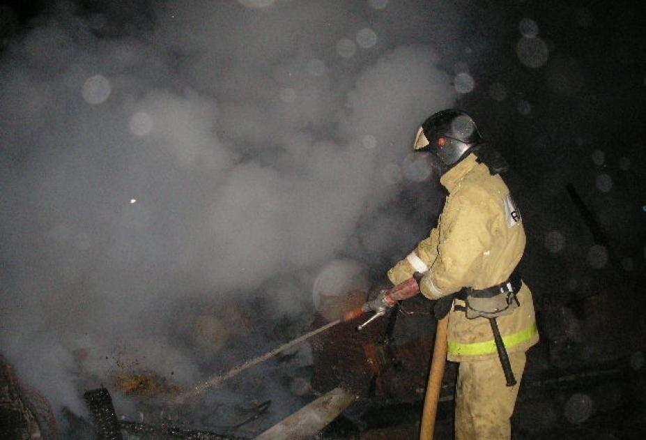 Пожар в нежилом здании в городском округе Коломна