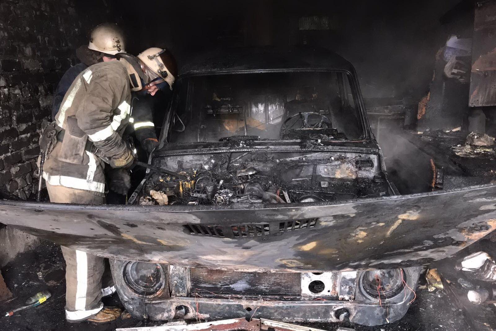 Возгорание транспортного средства в городском округе Ступино
