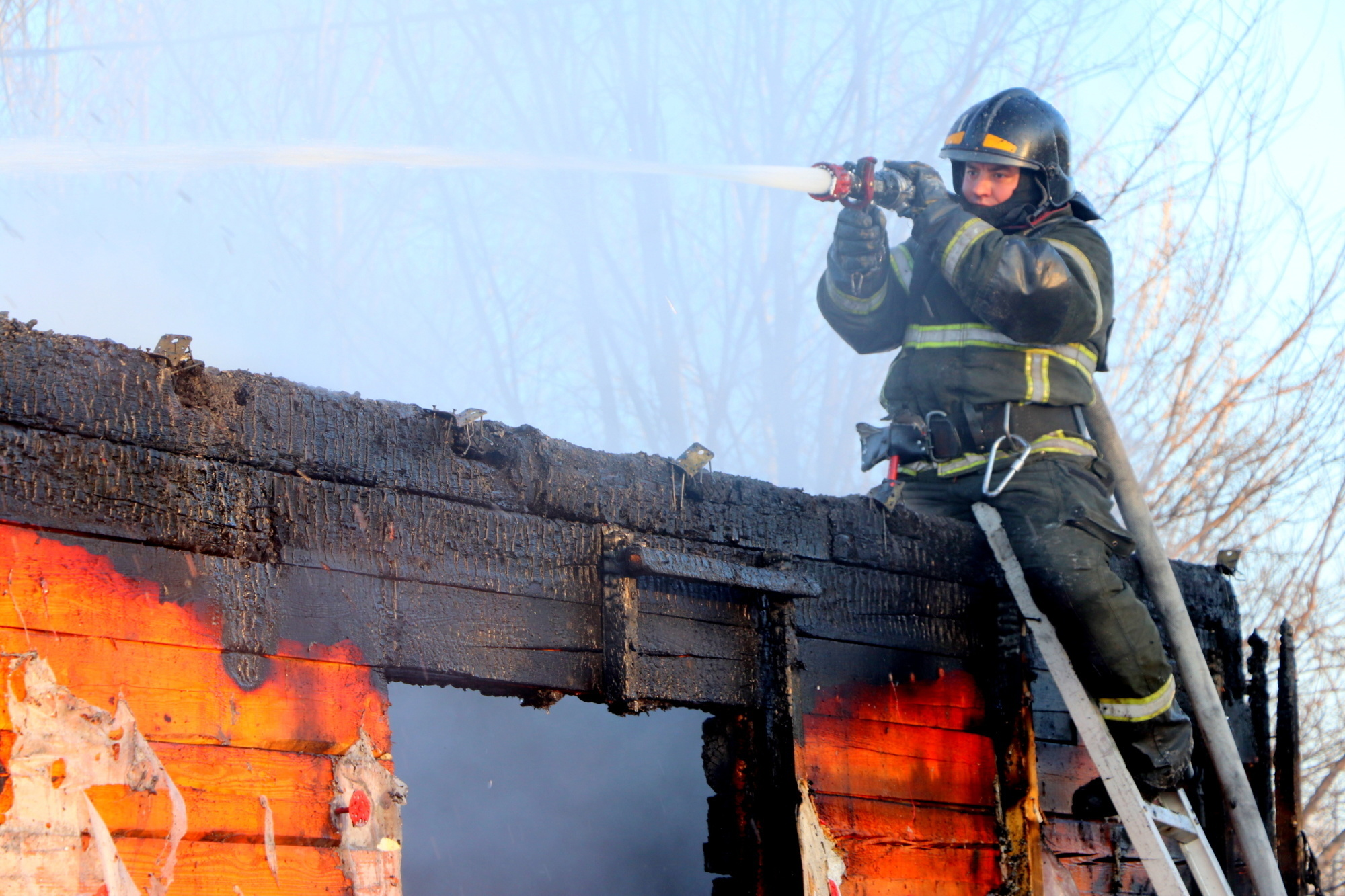 Пожар в хозяйственной постройке в городском округе Чехов