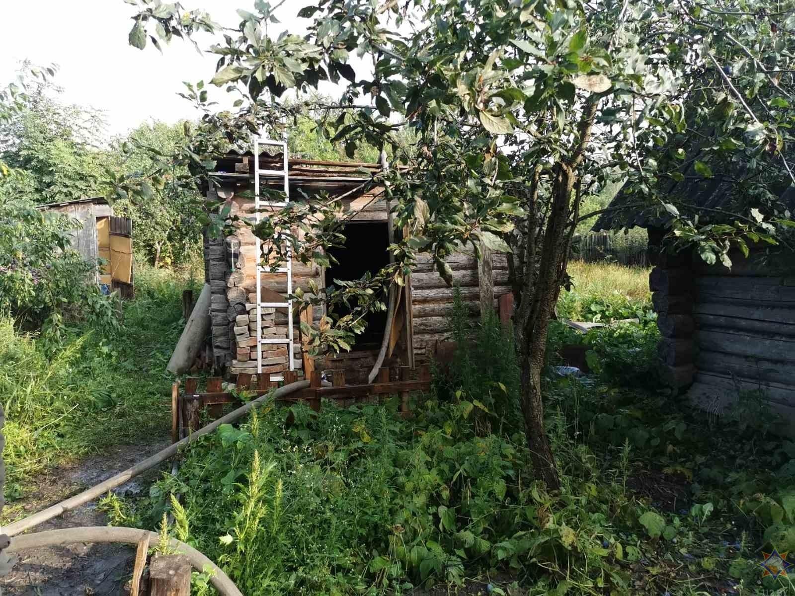Пожар в хозяйственной постройке в городском округе Ступино
