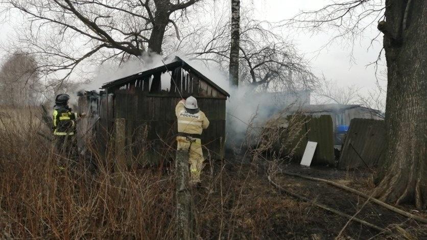 Пожар в хозяйственной постройке в городском округе Дмитров