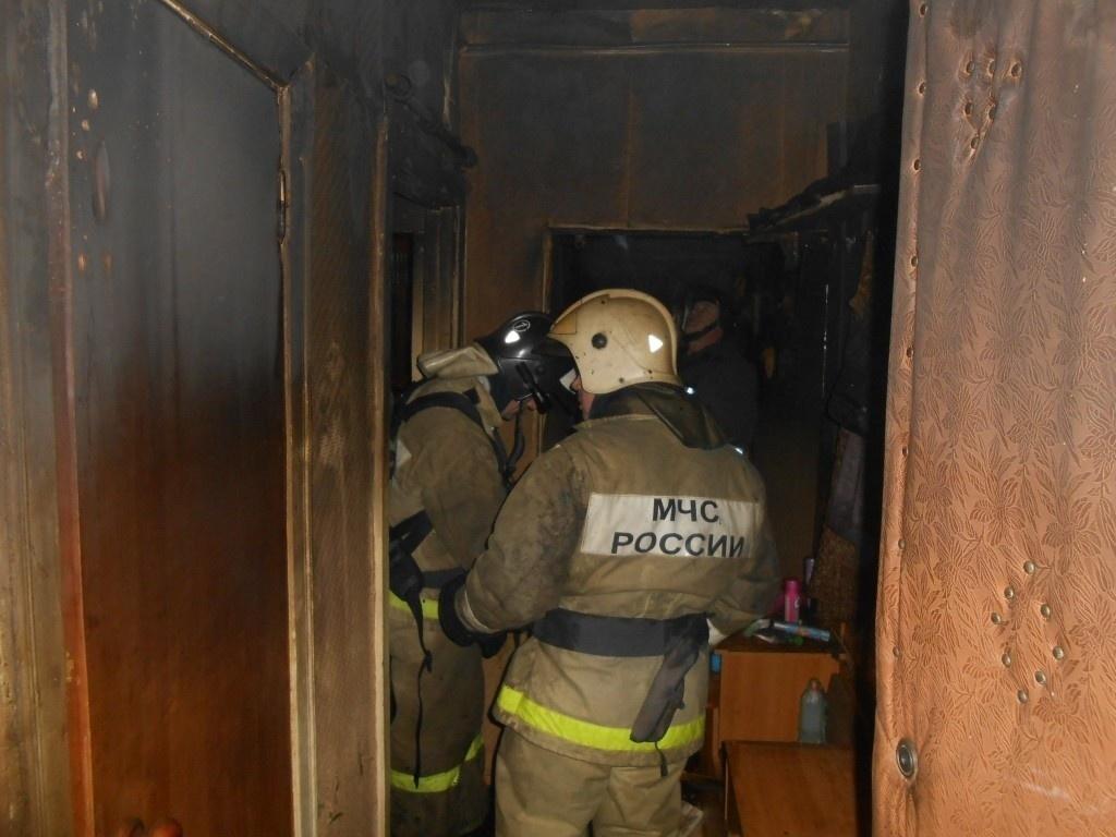 Пожар в квартире в городском округе Егорьевск