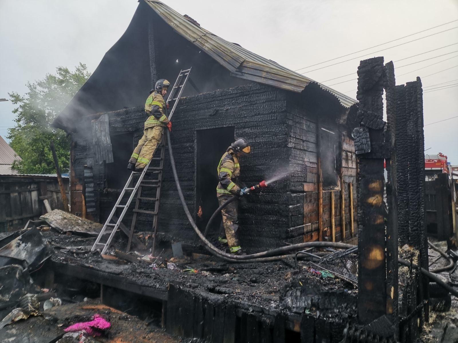 Пожар в жилом доме в городском округе Долгопрудный
