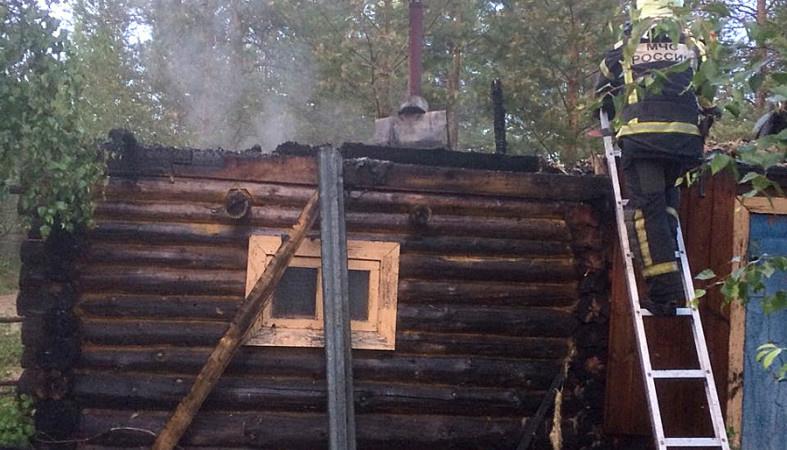 Пожар в хозяйственной постройке в городском округе Электросталь
