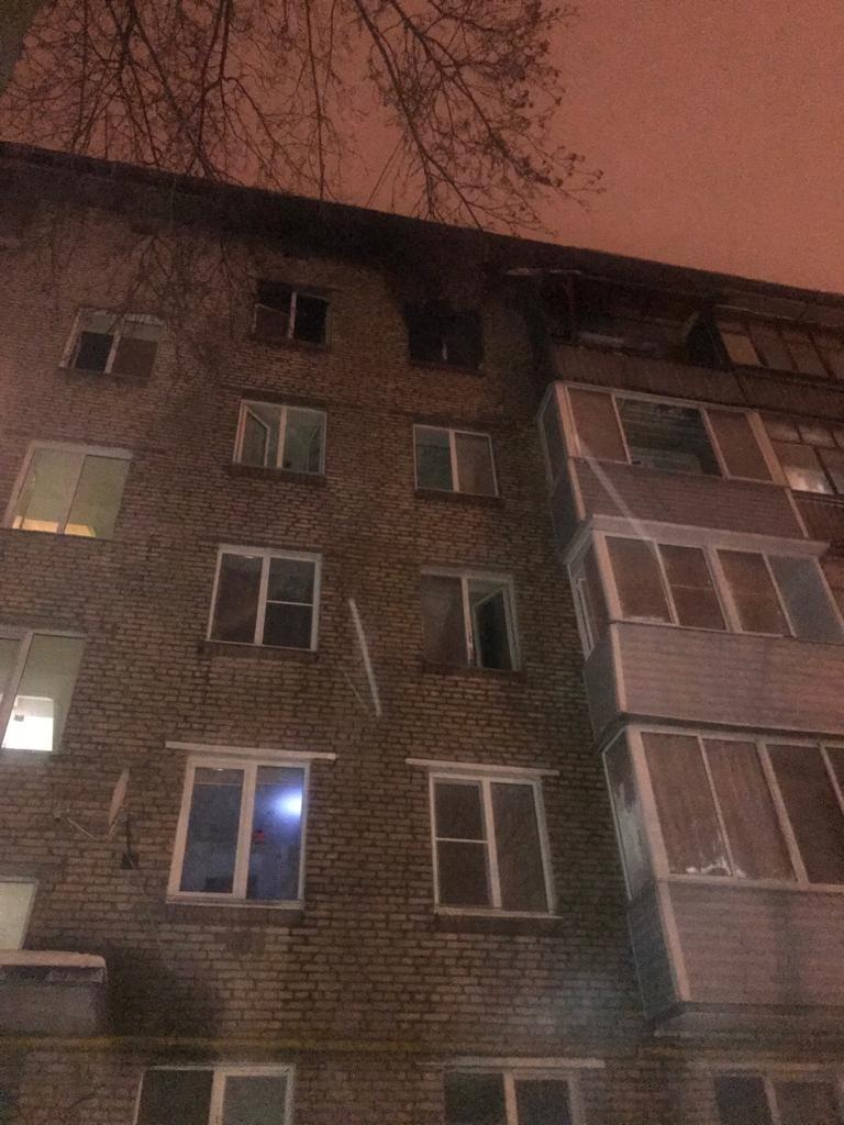 Пожар в квартире в городском округе Балашиха