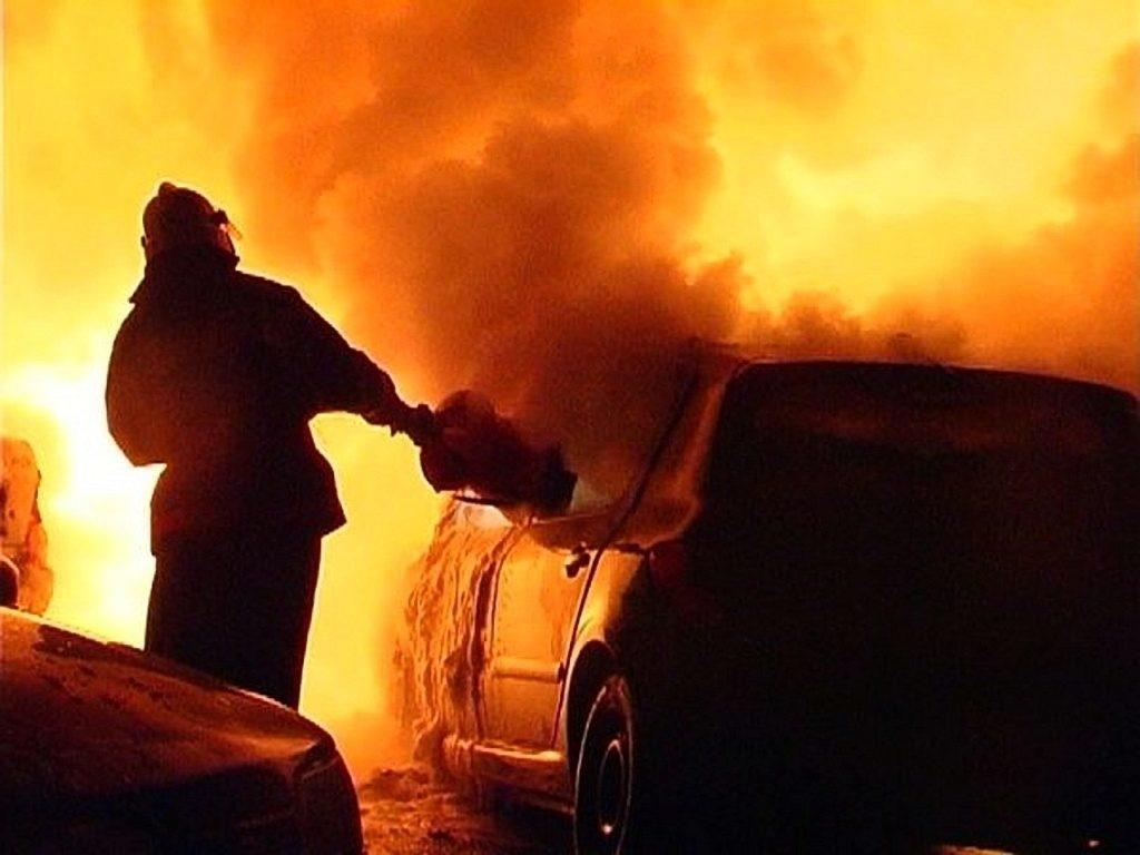 Возгорание транспортного средства в городском округе Шатура