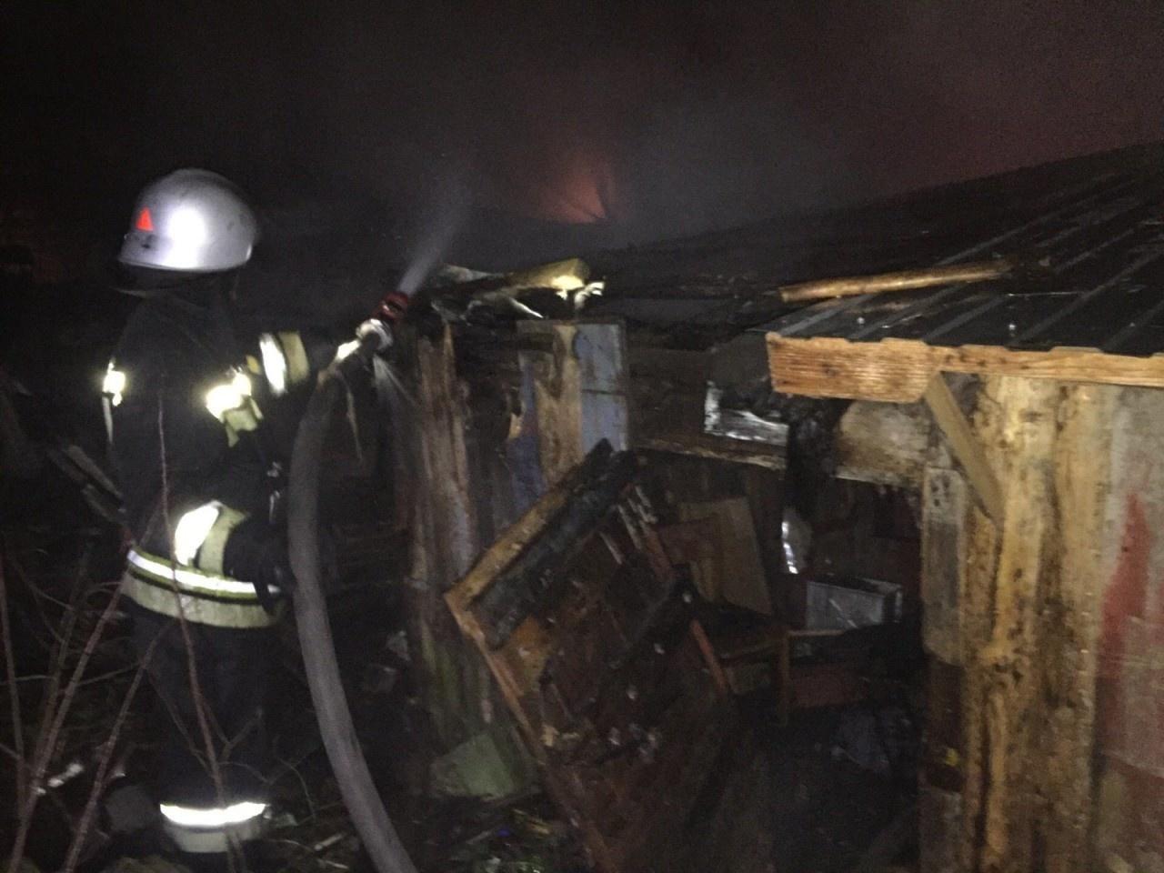 Пожар в хозяйственной постройке в городском округе Шатура
