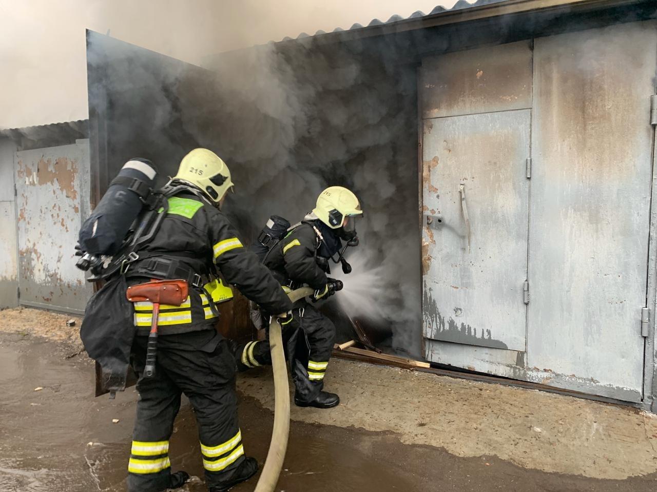Пожар в хозяйственной постройке в городском округе Солнечногорск